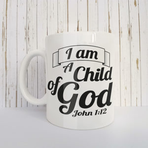 Mok met tekst I am a child of God