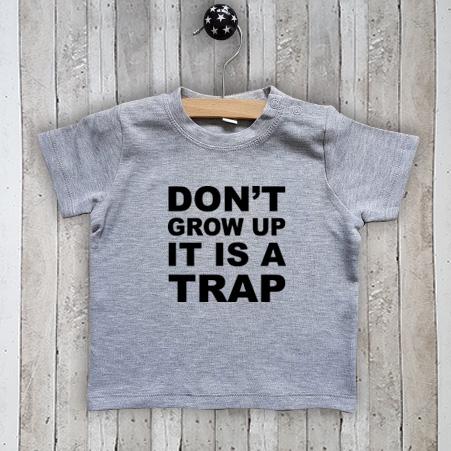 T-shirt met tekst Don't grow up