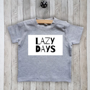 T-shirt met tekst Lazy days