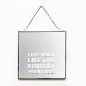 Spiegel Faith met tekst Live your life