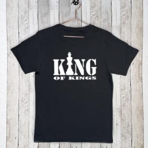 Basis t-shirt met tekst King of kings