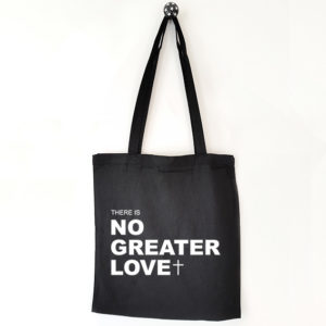 Katoenen tas met tekst No greater love