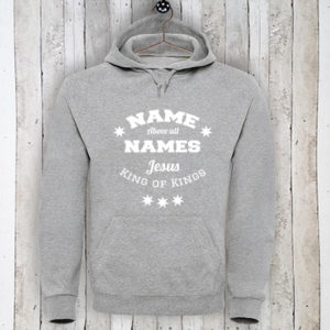Hoodie met tekst Name above all names
