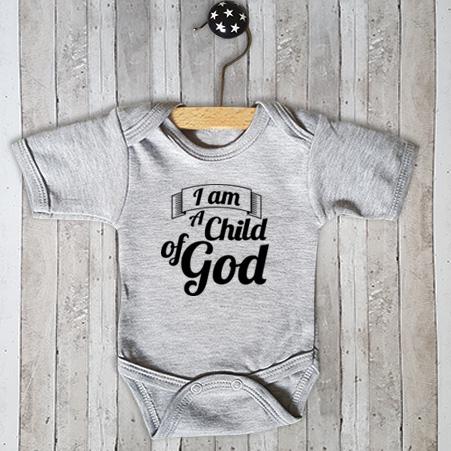 Rompertje met tekst I am a child of God