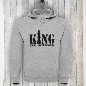 Hoodie met tekst King of Kings