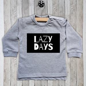 Sweater met tekst Lazy days