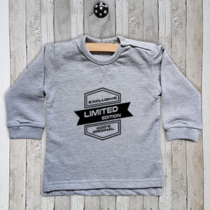 Sweater met tekst Limited edition