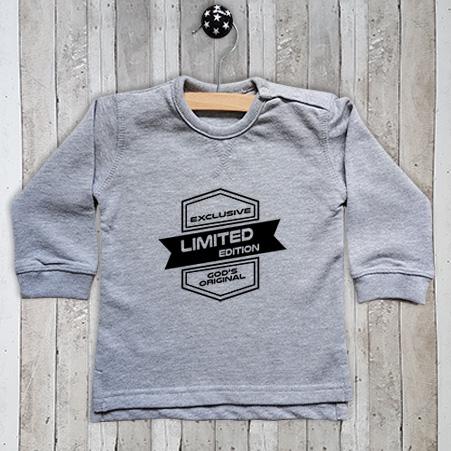 Sweater met tekst Limited edition