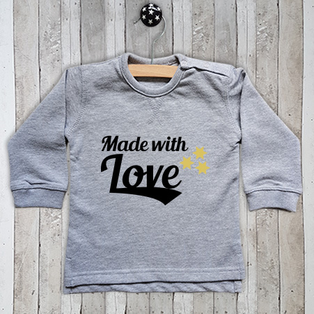 Sweater met tekst Made with love