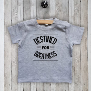 T-shirt met tekst Destined for greatness