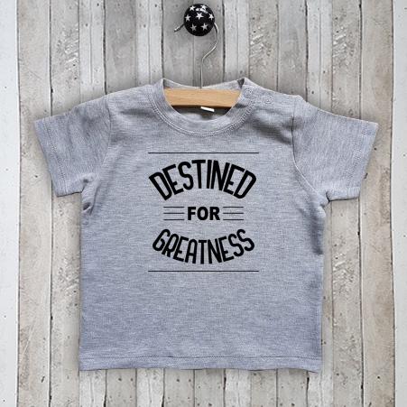 T-shirt met tekst Destined for greatness