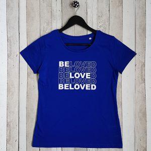 T-shirt met tekst Beloved