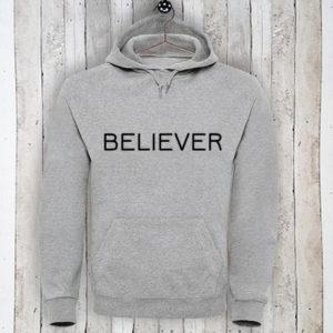 Hoodie met tekst Believer