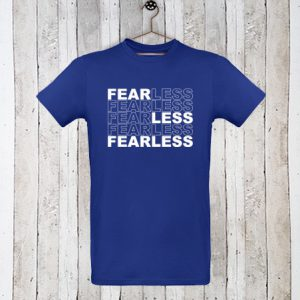 Basis t-shirt met tekst Fearless