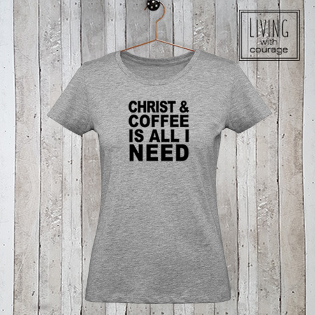 Dames t-shirt Christ and Coffee