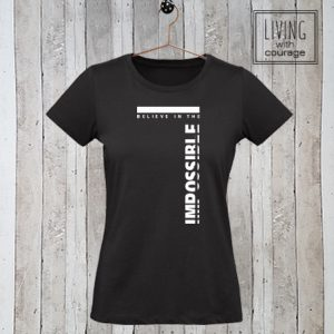 Dames t-shirt Believe in the impossible