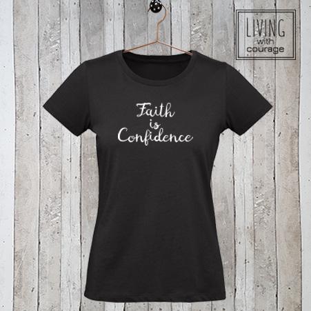 Christelijk T-Shirt Faith is confidence