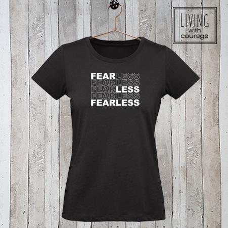 Dames t-shirt Fear Less