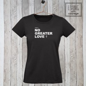 Dames t-shirt No greater love