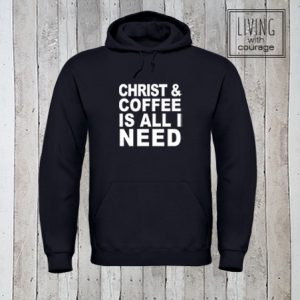 Christelijke Hoodie Christ and Coffee