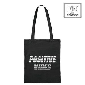 Katoenen Tas Positive vibes