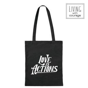 Christelijke Katoenen Tas Love is actions