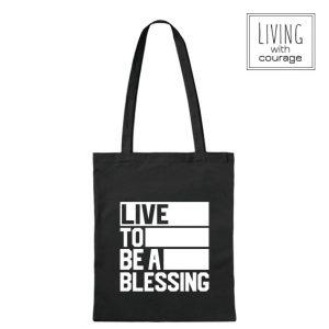 Christelijke Katoenen Tas Live to be a blessing
