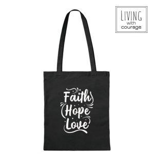 Christelijke Katoenen Tas Faith hope love