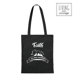 Christelijke Katoenen Tas Faith can move mountains