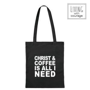 Christelijke Katoenen Tas Christ and coffee