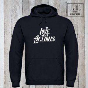 Hoodie Love is actions