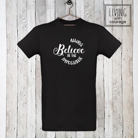 Heren Organic T-Shirt Always believe