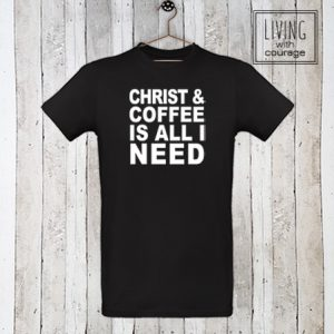 Christelijk T-Shirt Christ and coffee