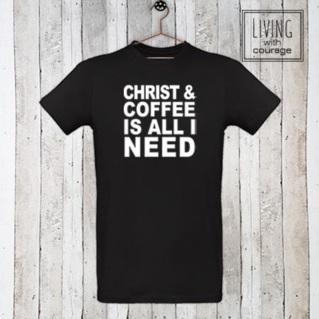 Christelijk T-Shirt Christ and coffee