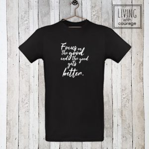 Heren Organic T-Shirt Focus on the good