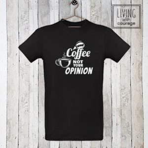 Heren Organic T-Shirt I want coffee