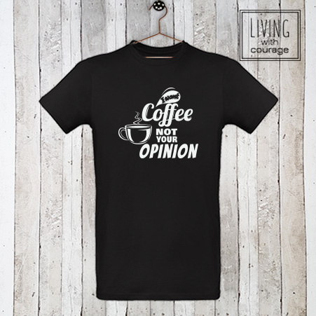 Heren Organic T-Shirt I want coffee