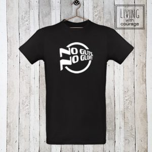 Heren Organic T-Shirt No guts no glory