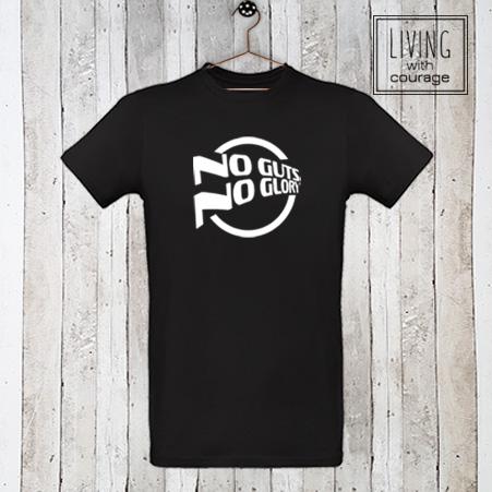 Heren Organic T-Shirt No guts no glory