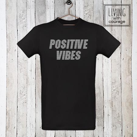 Heren Organic T-Shirt Positive vibes