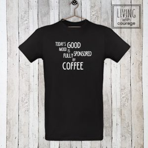 Heren Organic T-Shirt Sponsored by coffee