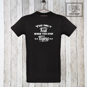 Heren Organic T-Shirt You only fail