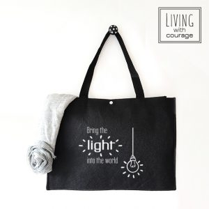 Christelijke Vilten Tas Bring the light