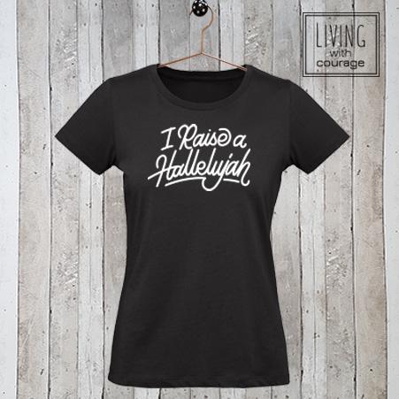 Christelijk T-Shirt I raise a hallelujah