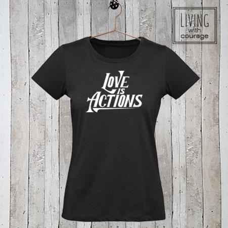 Christelijk T-Shirt Love is actions