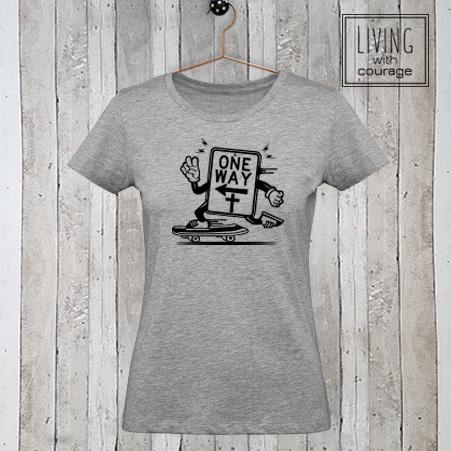 Christelijk T-Shirt One way
