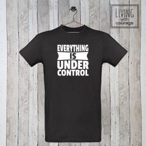 Heren Organic T-Shirt Under control