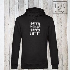Organic Hoodie Happy mind