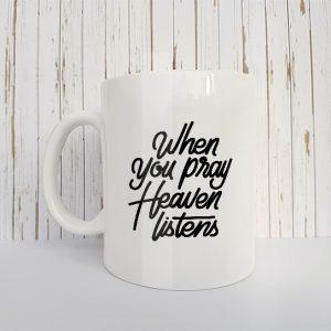 Christelijk Mok When you pray