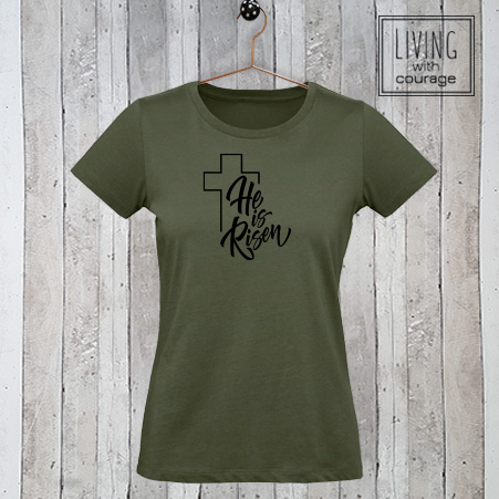 Christelijk T-Shirt He is risen